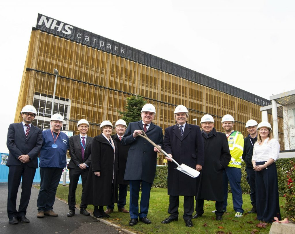 SUPPORT IN SPADES: Generous donors who supported the appeal to raise funds for the new state-of-the-art helipad at Manchester University NHS Foundation Trust (MFT) at a 'breaking of the ground' celebration to mark construction work progress.