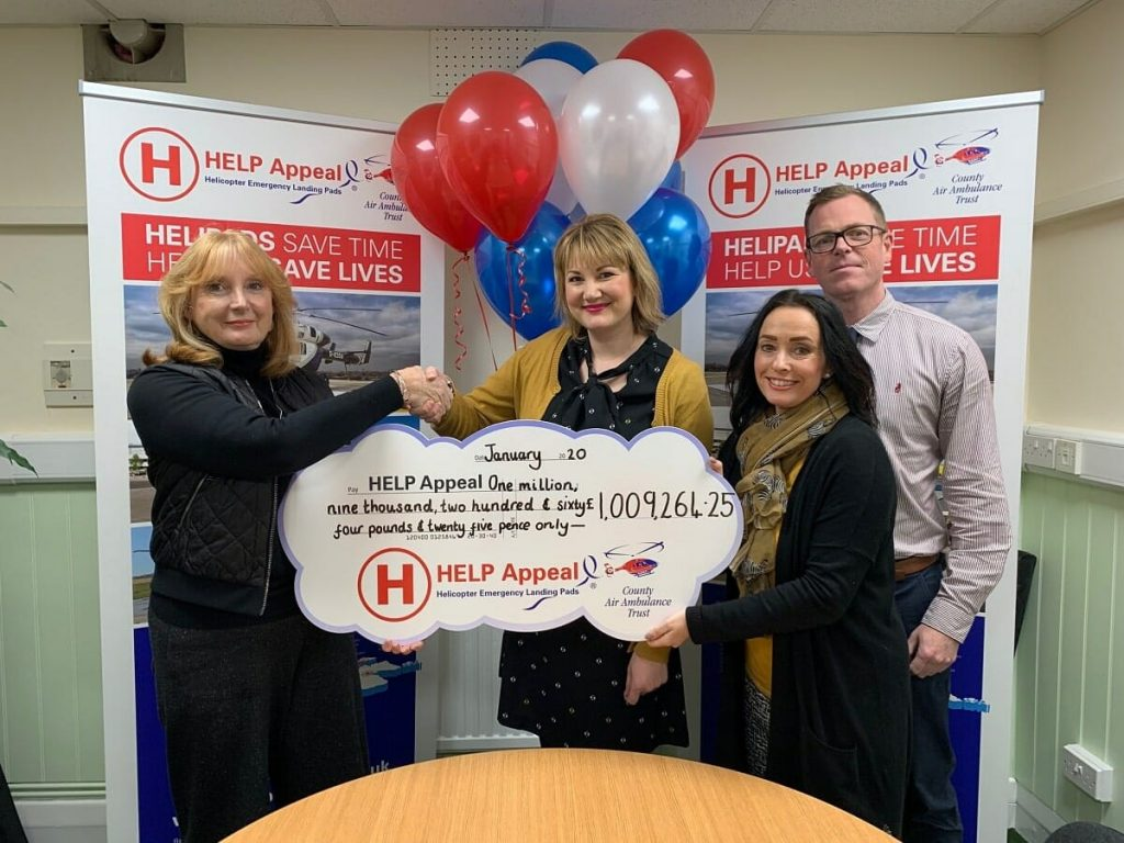 CHEQUE THIS OUT: From left, Sally Abbott, Head of Fundraising, HELP Appeal, with Wills & Legal Services' Emma Hodges, Office Manager; Sue Spilsbury, Charity Marketing Co-Ordinator, and Ed Coss, Director and Head Paralegal.
