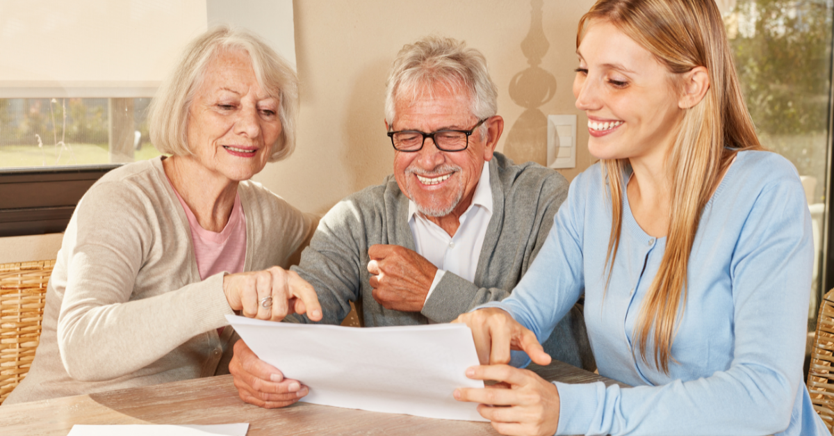 Paralegal offering legal advice to senior customers